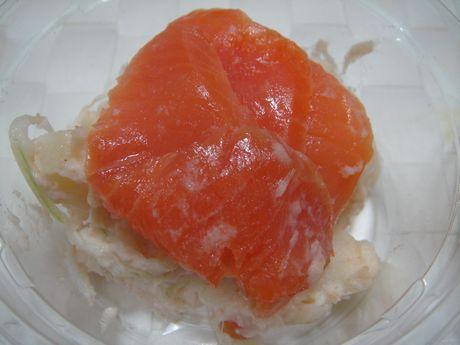 サーモンと明太子のクリーミーポテトサラダ