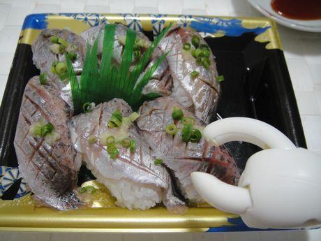 島根産アジの握り寿司
